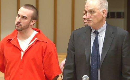 Kyle Navin and his attorney Eugene Riccio. — News 12 photo