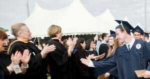 Like previous graduation ceremonies in Weston, this year's will also be held outdoors under a tent. —Scott Mullin photo