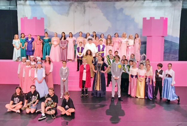 The cast of A Knighttime Musical, which performed to full houses at John Read Middle School in Redding.