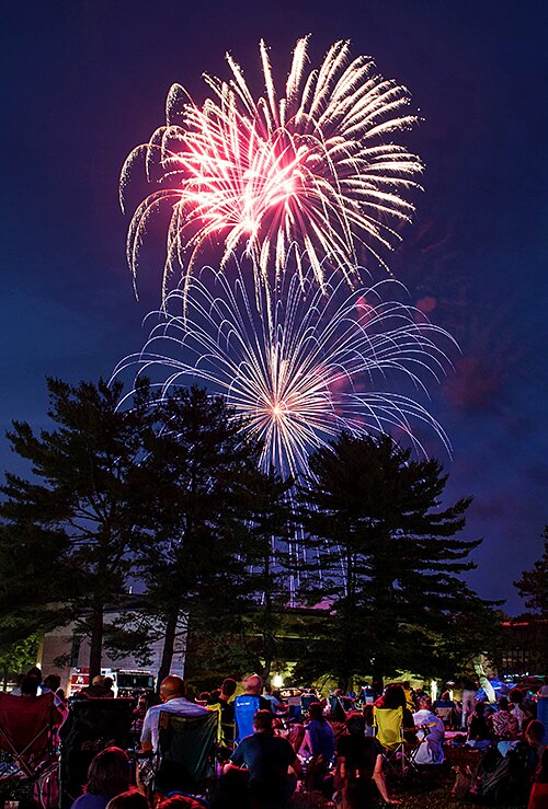 Fireworks in Weston on July 4. — Bryan Haeffele photo